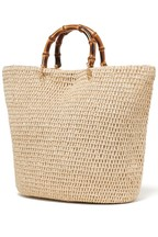 Forever New Bamboo Handle Beach Tote Bag