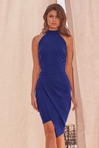 Lipsy Halter Neck Asymmetric Bodycon Dress