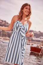 Lipsy Ruffle Stripe Beach Dress
