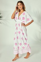 South Beach Printed Flare Sleeve Maxi Dress