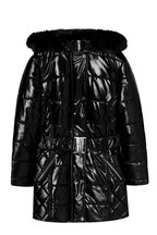 Lipsy Girl Shower Resistant Hi Shine Belted Coat