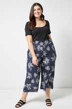 Dorothy Perkins Curve Toile Print Crinkle Culottes