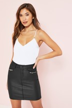 Lipsy Coated Mini Skirt