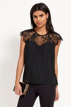 Lipsy Lace Sweetheart Top
