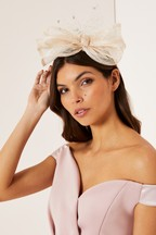 Lipsy Net Bow Fascinator