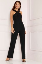 Lipsy Cross Front Wide Leg Jumpsuit