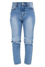 PrettyLittleThing Distressed Straight Jeans