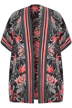 Yours Curve Floral Striped Coverup