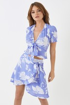 Boohoo Floral Wrap Co-ord Top