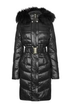 Abbey Clancy x Lipsy High Shine Belted Padded Jacket