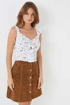 Missguided Embroidered Floral Cami Top