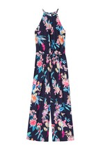 Lipsy Girl Tropical Tie Waist Jumpsuit