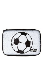 Smiggle Goal Hardtop Football Print Pencil Case