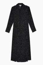 Topshop Spotty Open Back Shirt Dress