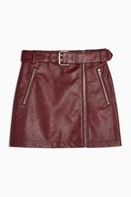 Topshop PU Hardware Mini Skirt