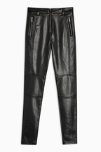 Topshop Vinyl Piper Faux Leather Trouser