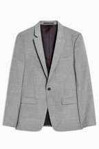 Topman Skinny Fit Single Breasted Blazer With Notch Lapels