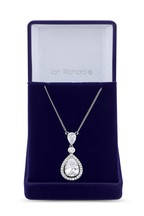 Jon Richard Bridal Cubic Zirconia Peardrop Pendant Necklace