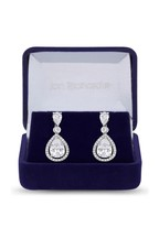 Jon Richard Bridal Cubic Zirconia Peardrop Drop Earring