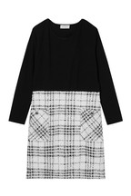 Lipsy Girl 2 in 1 Boucle Check Dress