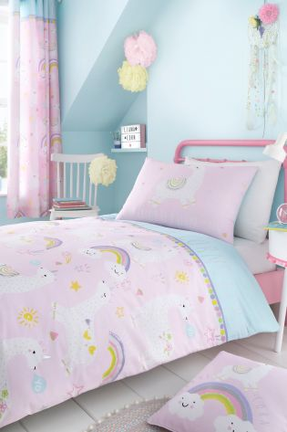 Llamacorn Easy Care Duvet Cover and Pillowcase Set by Catherine Lansfield