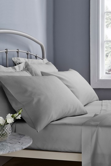 Set of 2 Catherine Lansfield Grey Easy Care Pillowcases