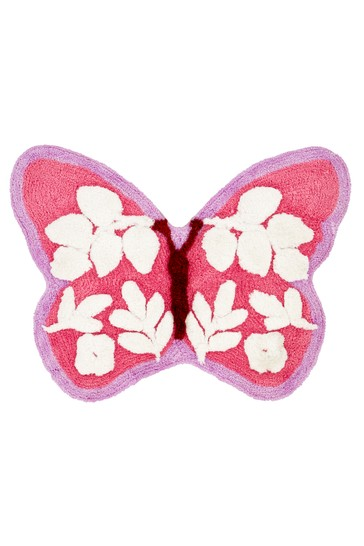 Catherine Lansfield Pink Butterfly Rug