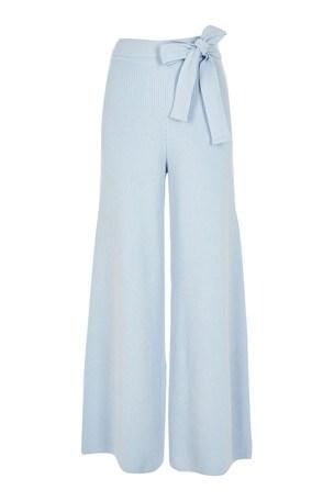 River Island Blue Light Wide Leg Smart Lounge Trousers