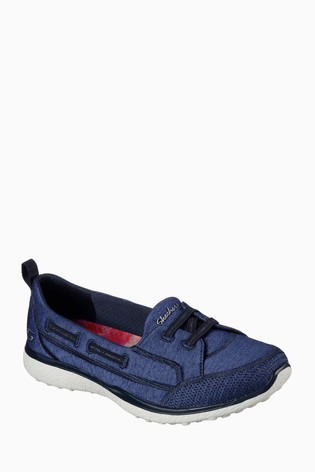 ec56f1c862ae Buy Skechers® Blue Microburst Topnotch Heathered Jersey Flat G from ...