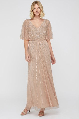Buy Monsoon Pink Tabitha Embellished Maxi Dress From The Next Uk Online Shop,Long Indian Dresses For Weddings