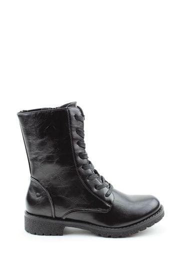 Buy Heavenly Feet Black Chloe Lace Mid