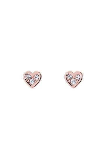 Buy Ted Baker Rose Gold Neena Nano Heart Stud Earrings From The Next Uk Online Shop