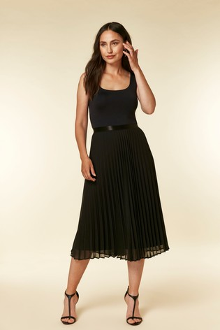 897c2fb884f3 Buy Wallis Black Pleated Midi Skirt from the Next UK online shop