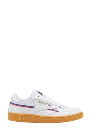 Buy Reebok White Gum Club C 85 Trainers