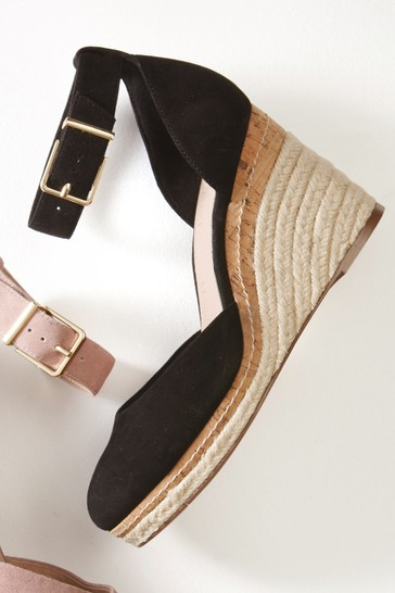 Buy Leather Closed Toe Wedges from the