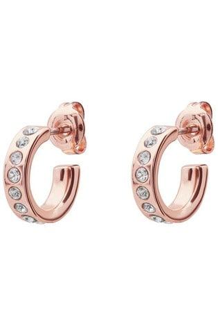 Buy Ted Baker Rose Gold Tone Seeni Mini Hoop Huggie Earrings From The Next Uk Online Shop