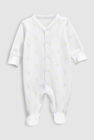 fd35f4253 Buy Animal Character Sleepsuits Three Pack (0mths-2yrs) from Next ...