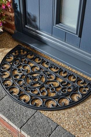 Mud Stopper Half Moon Lattice Doormat, Half Moon Outdoor Mats