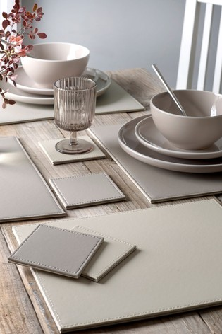 Buy 4 Reversible Faux Leather Placemats And Coasters Set From The Next Uk Online Shop