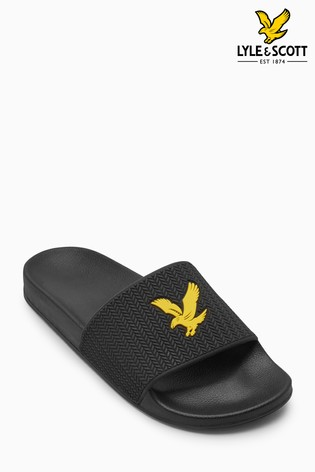 explore sale online clearance discount Lyle & Scott Thomson Slider In Black pictures for sale discount countdown package buy cheap countdown package prE2V
