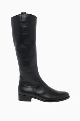 outlet boutique good out x los angeles Buy Gabor Black Brook Calf Fit Leather Long Leg Boots from the ...