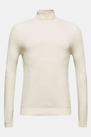 Esprit Natural Structured Cotton Roll Neck Sweater by Next