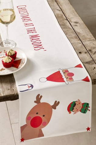 Christmas Table Runners.Personalised Christmas Characters Table Runner By Jonny S Sister