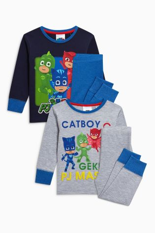 Blue/Grey PJ Masks Pyjamas Two Pack (12mths 8yrs) ...