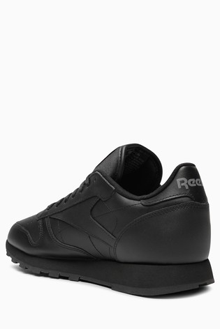 3eec91523588e Black Reebok Classic Leather  Black Reebok Classic Leather ...