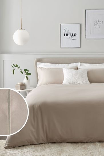 Buy 300 Thread Count 100 Cotton Sateen Collection Luxe Duvet Cover And Pillowcase Set From Next Oman