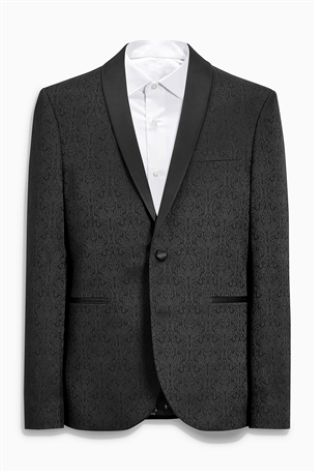 Buy Patterned Skinny Fit Tuxedo Suit Jacket From Next Ireland Fascinating Patterned Suit Jacket