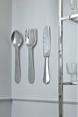 Extra Large Fork And Spoon Wall Decor from xcdn.next.co.uk