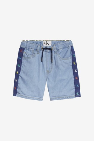 fb3dd9f9677 Buy Calvin Klein Boys Blue Jeans Monogram Chambray Short from the ...
