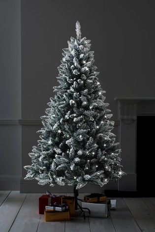 Snowy Christmas.Snowy 6ft Lit Christmas Tree